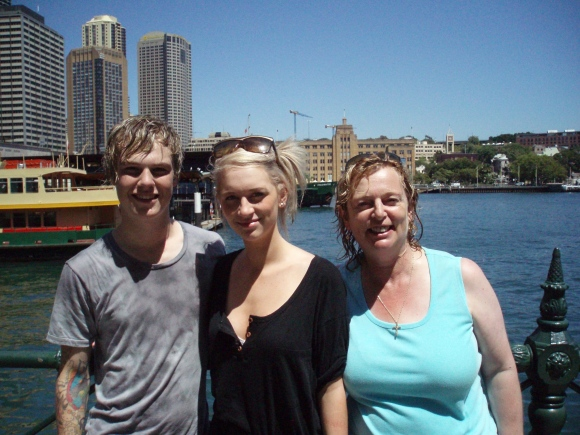 Aaron, myself & my mum on holiday in Sydney