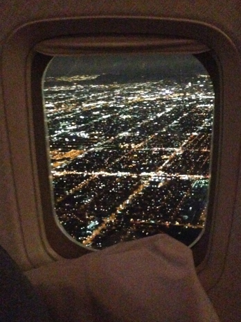 A very small consolation. Breathtaking view of LA lights flying into LAX